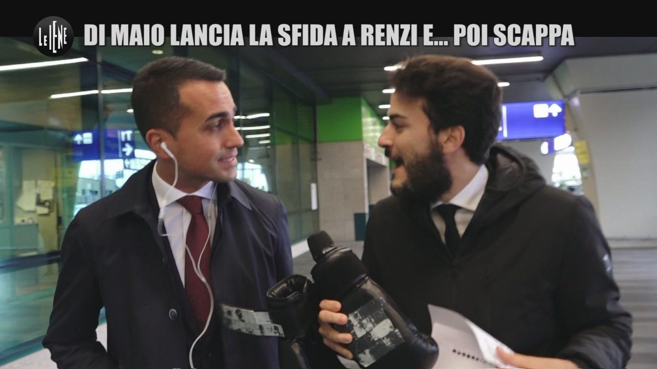 MONTELEONE: Di Maio lancia la sfida a Renzi e… poi scappa