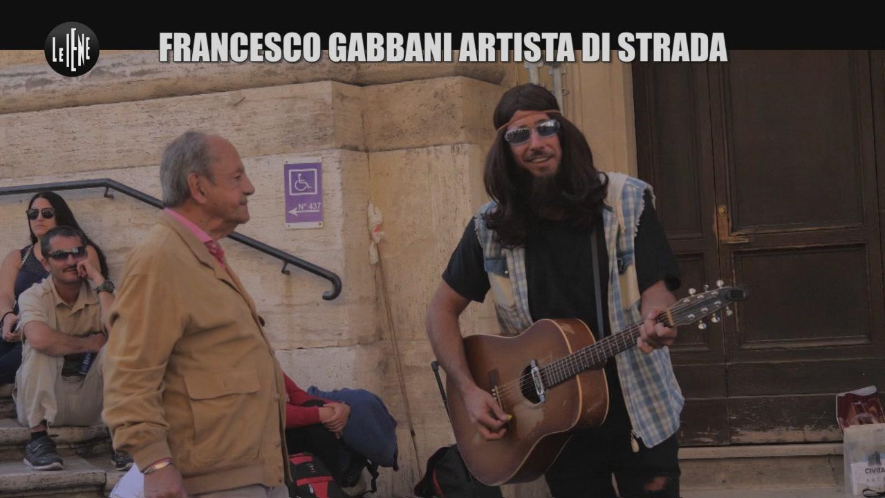 CORTI E ONNIS: Francesco Gabbani artista di strada