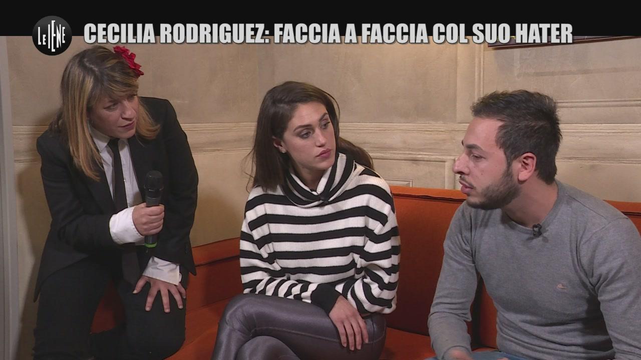 SARNATARO: Cecilia Rodriguez: faccia a faccia col suo hater