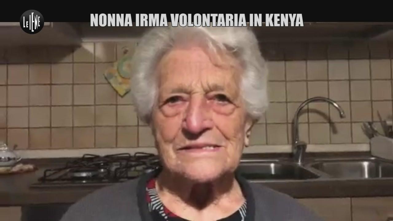 Nonna Irma volontaria in Kenya