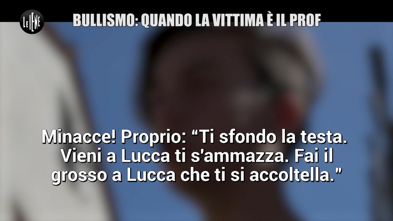 """AGRESTI: Professore bullizzato a Lucca, parla lo studente: """"Mi hanno minacciato di morte"""""""