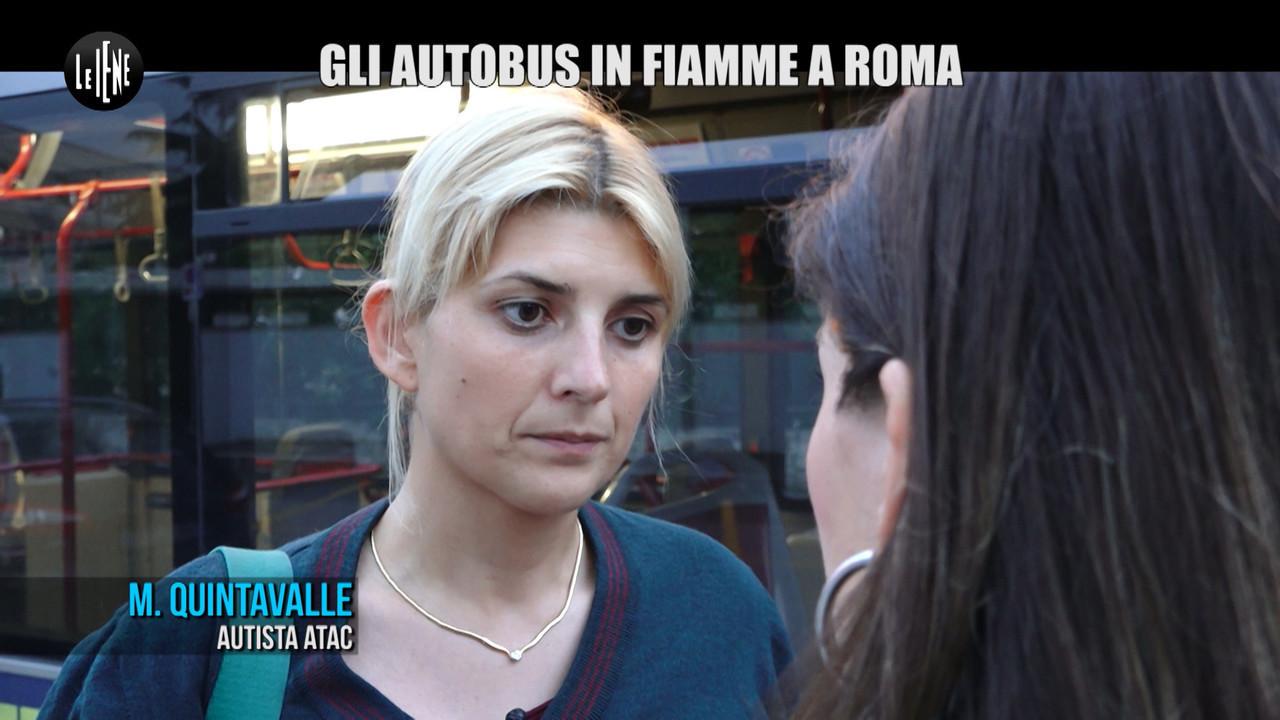 MARTINELLI ATAC autobus fiamme Roma
