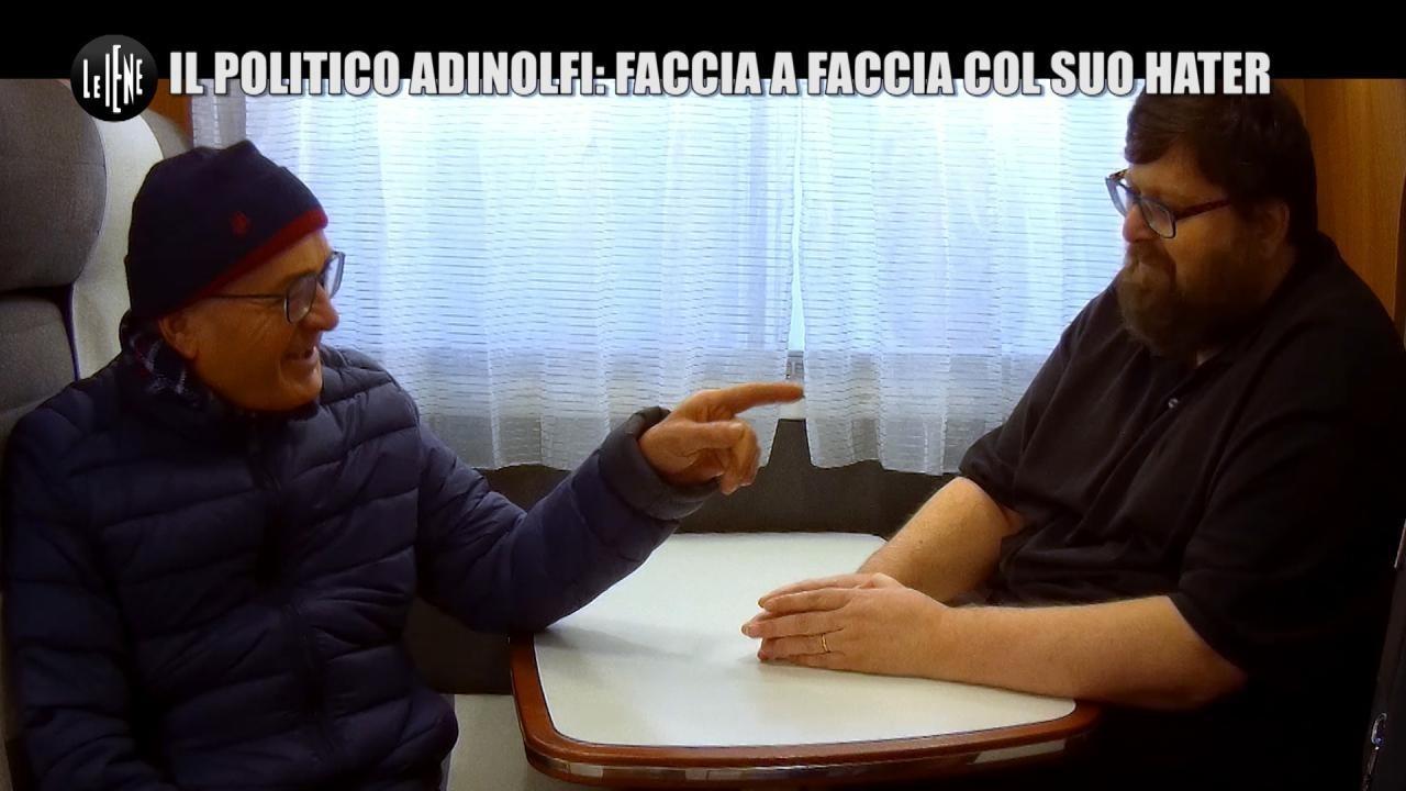 SARNATARO: Il politico Adinolfi: faccia a faccia col suo hater