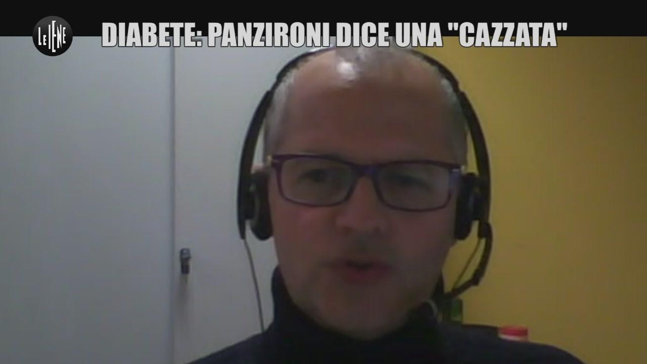 """Diabete, Panzironi dice """"una cazzata"""""""