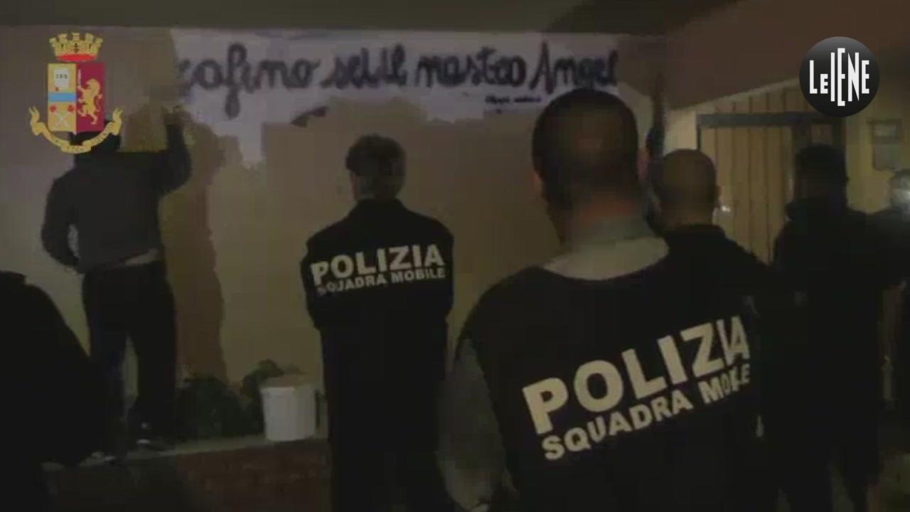 murales cancellato Roma Tor Bella Monaca boss Serafino Cordaro video esclusiva