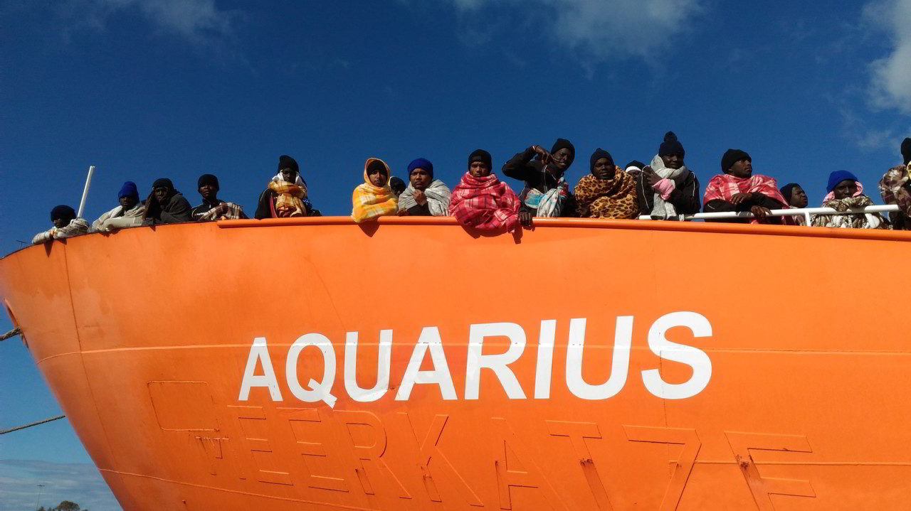 aquarius porti italiani chiusi migranti salvini carceri libia