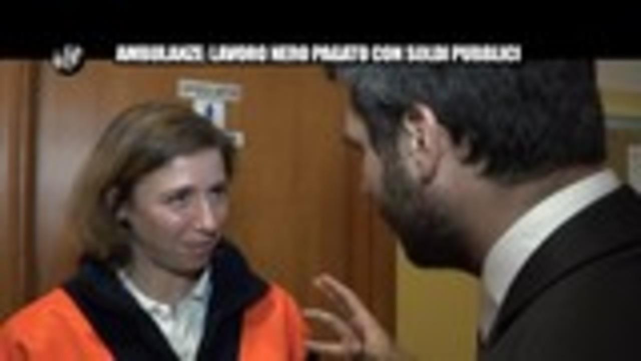 PECORARO: Ambulanze: lavoro nero pagato con i soldi pubblici