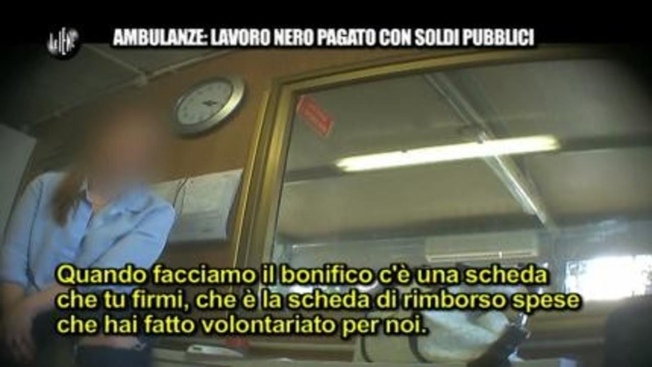PECORARO: Ambulanze: Lavoro nero pagato con soldi pubblici