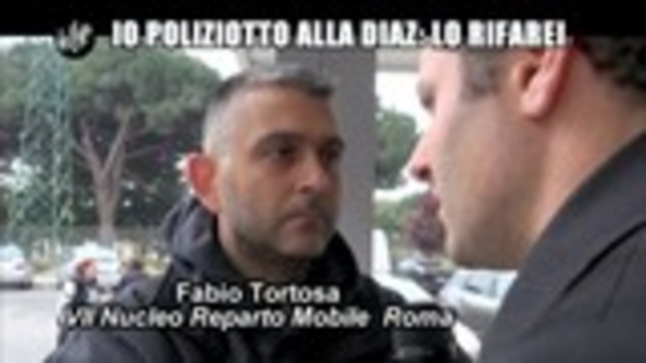 TROMBETTA: Io poliziottto alla Diaz: lo rifarei