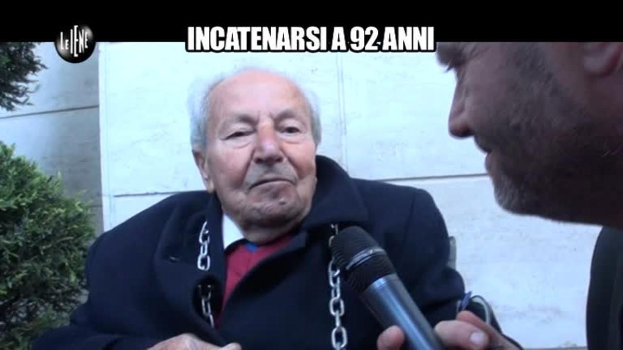 GOLIA: Incatenarsi a 92 anni (servizio integrale)