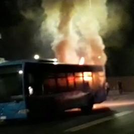 Atac bus fiamme Roma Micaela Quintavalle