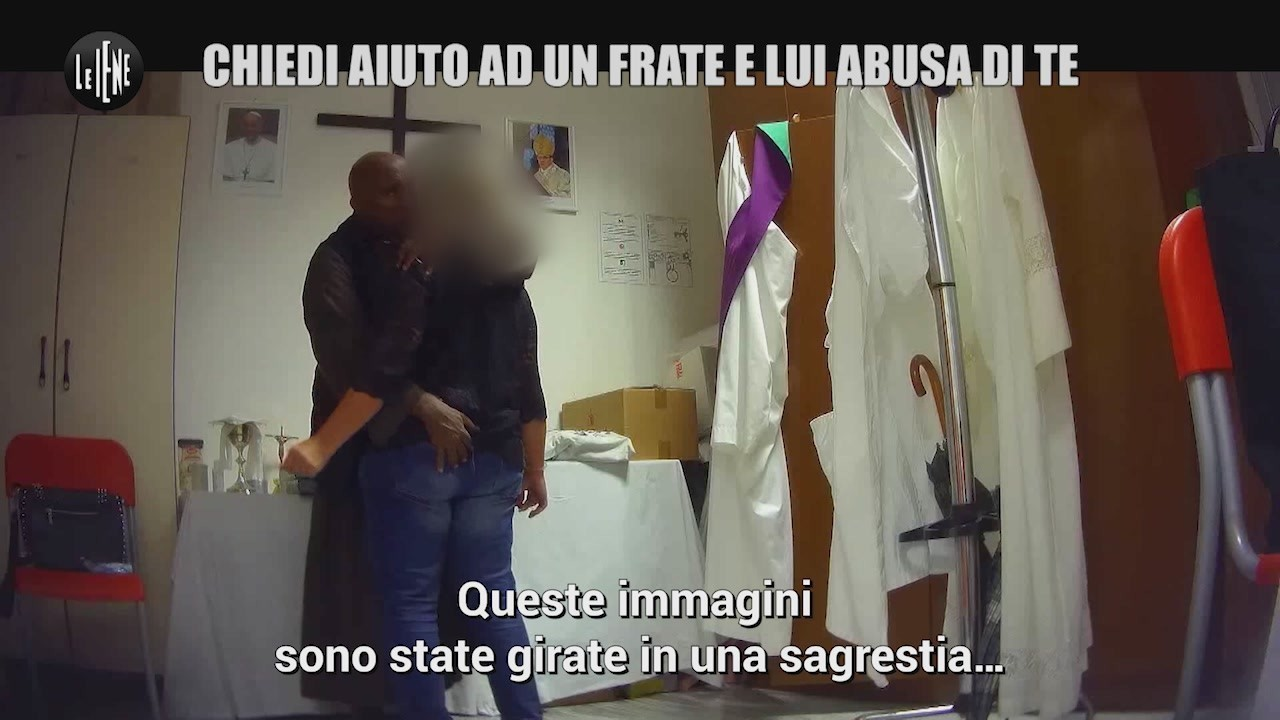 frate abusi sessuali chiede lavoro sagrestia video