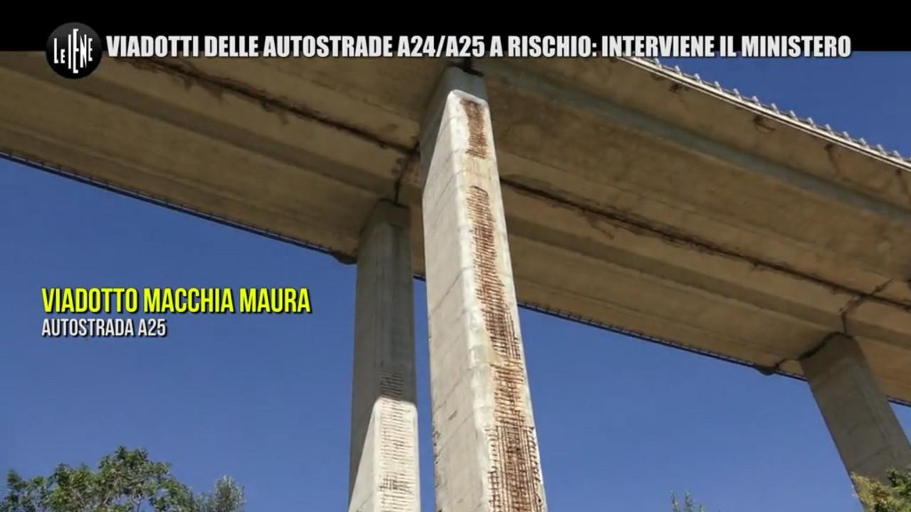 autostrade A24 A25 ponti rischio Abruzzo limiti mezzi pesanti video