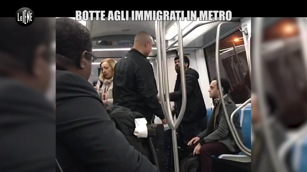 razzisti botte picchiano immigrato indiano metro