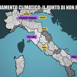 riscaldamento globale clima rischi Italia cosa fare