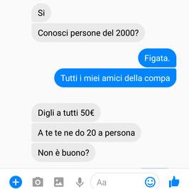 truffa bonus cultura 18 anni governo soldi chat messenger facebook on line