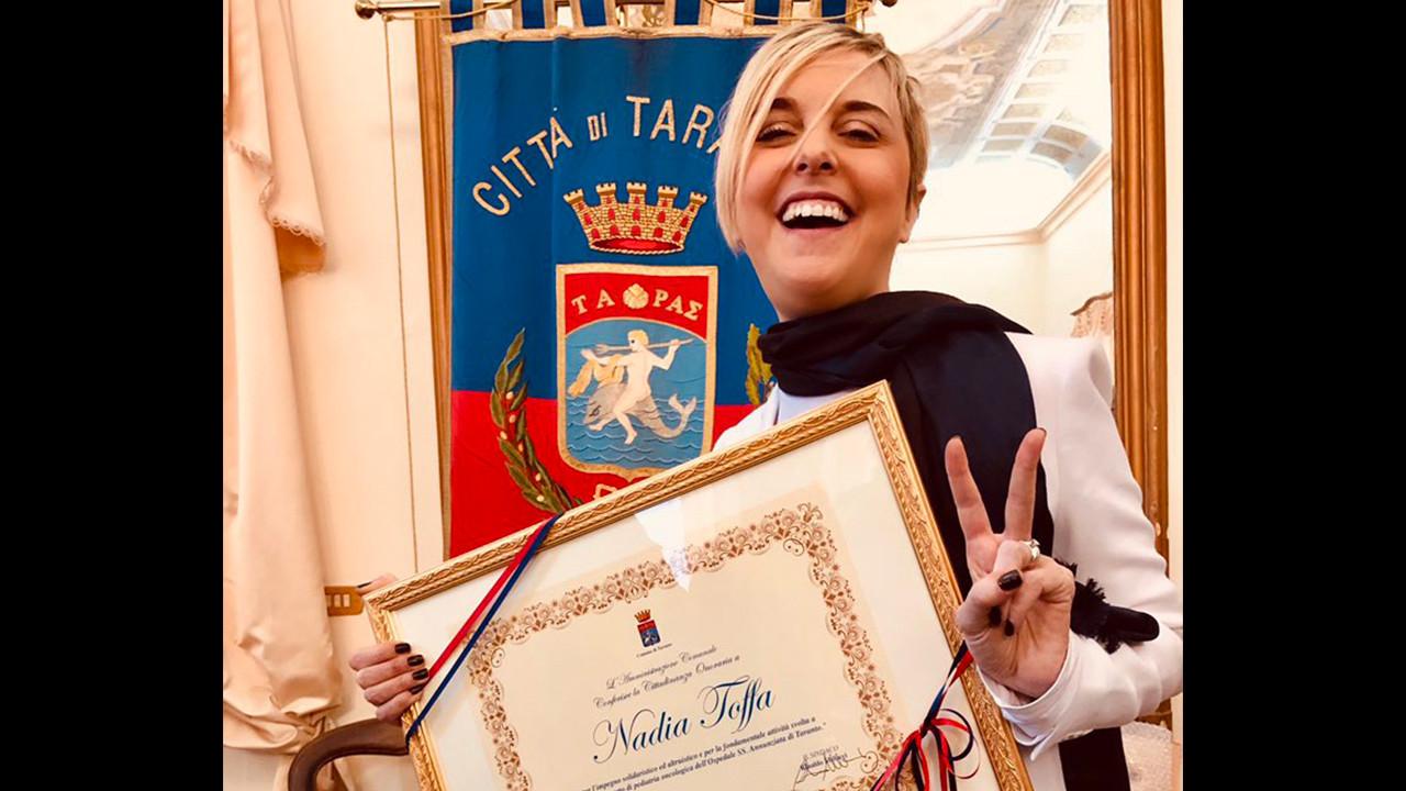 """Nadia Toffa è cittadina onoraria di Taranto: """"Siete la mia forza!"""""""