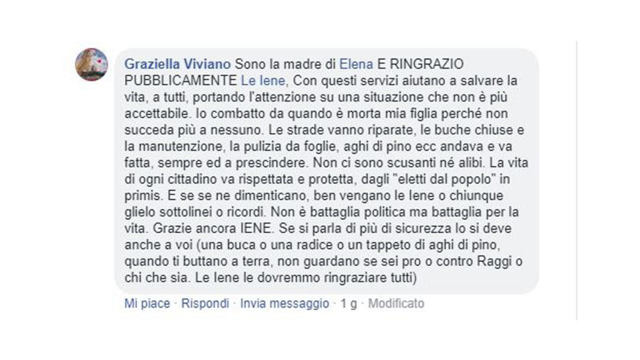 Buche a Roma, la mamma di Elena risponde agli hater