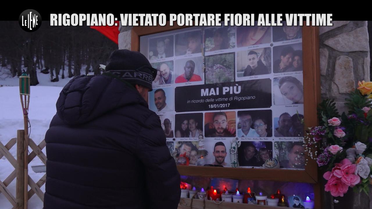 Rigopiano papa multato fiori figlio morto petizione