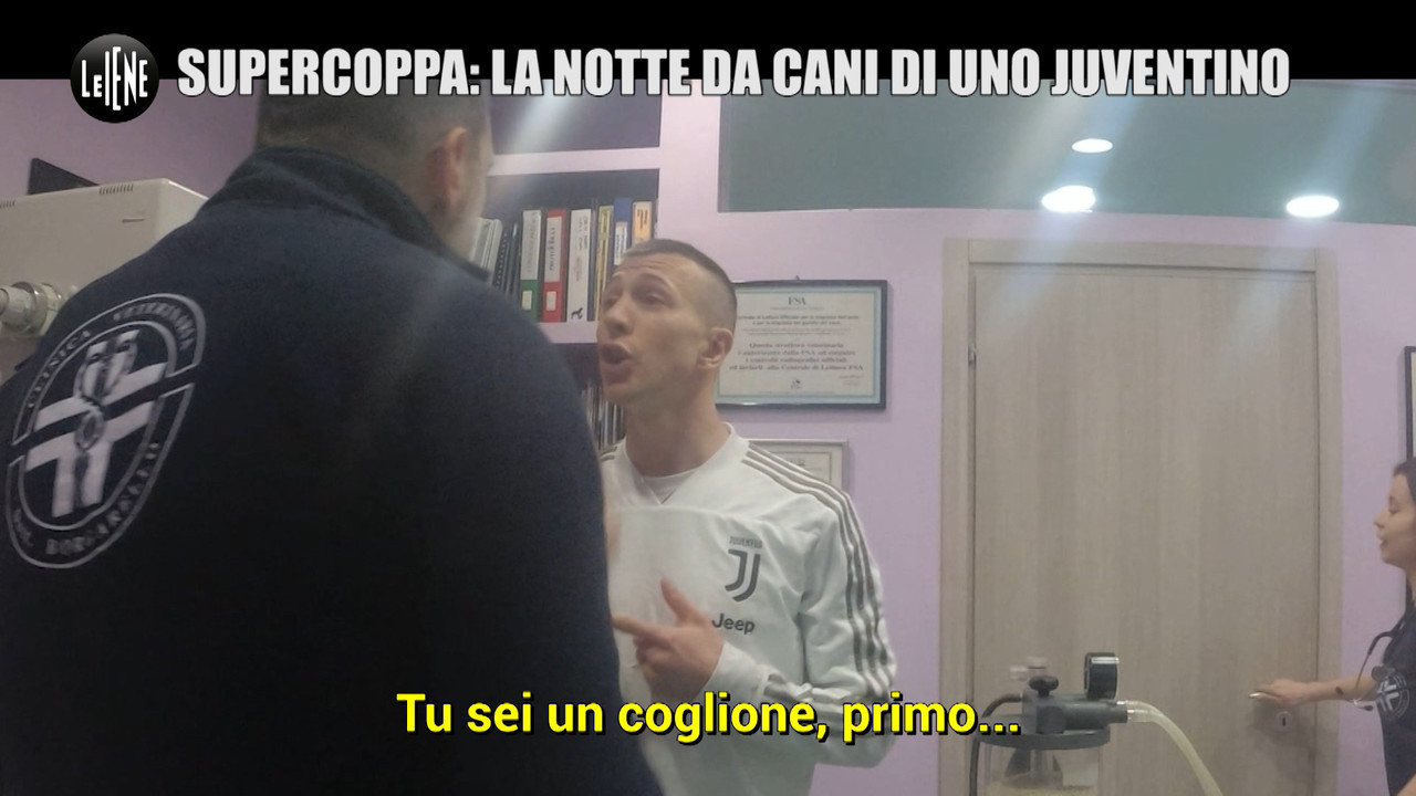 Federico Bernardeschi Juventus Milan Supercoppa scherzo cane