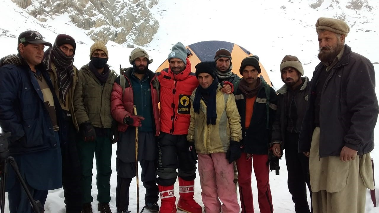 Daniele Nardi e il Mummery, pausa prima della scalata: foto