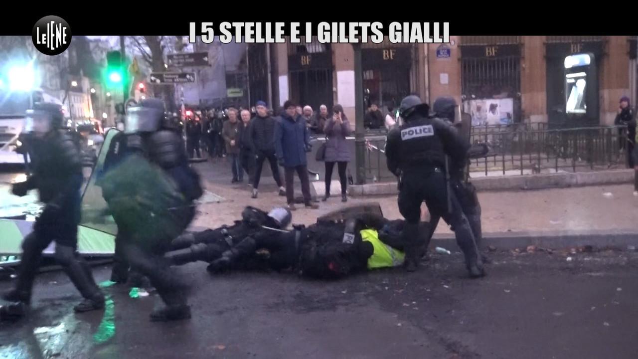 gilet gialli Parigi Macron 5 Stelle M5S scontri