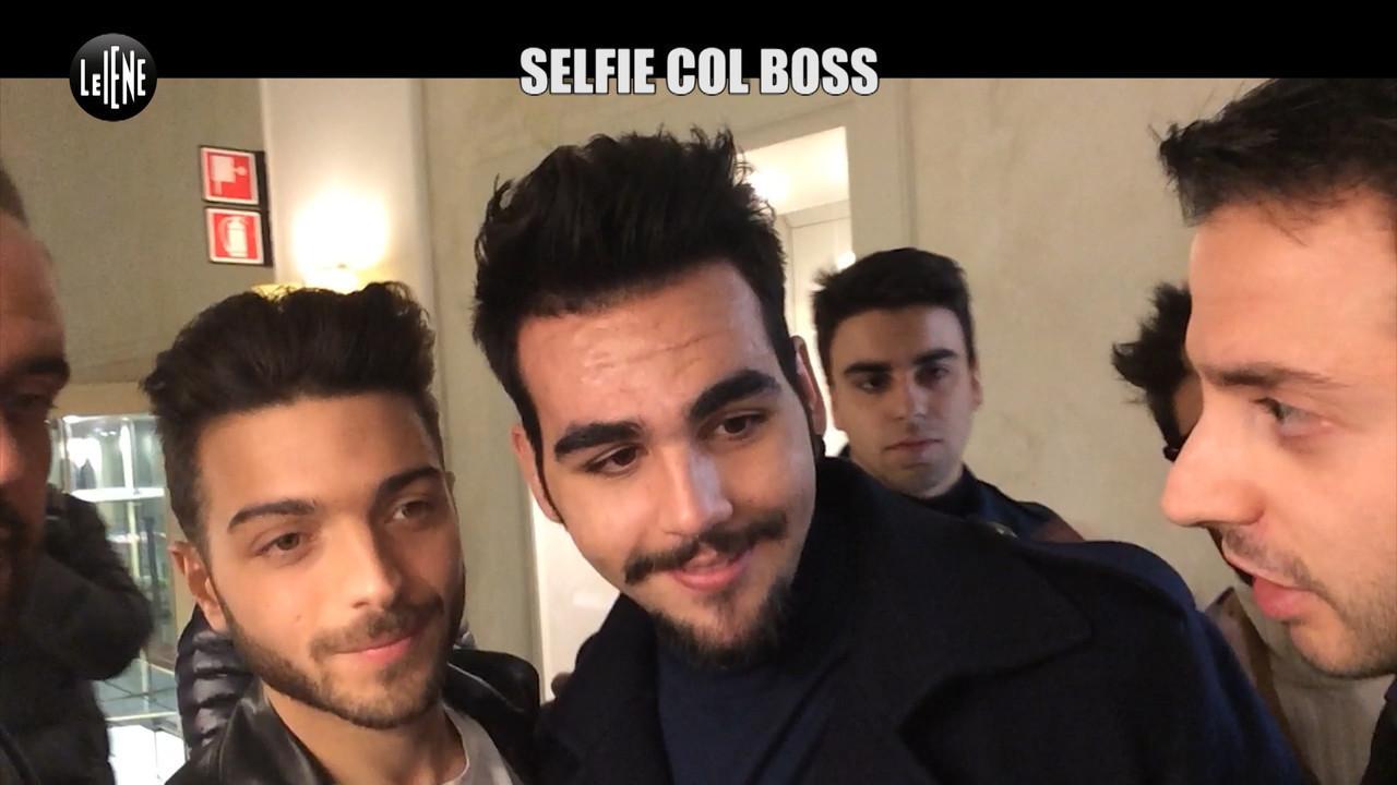 Sanremo Festival cantanti selfie boss