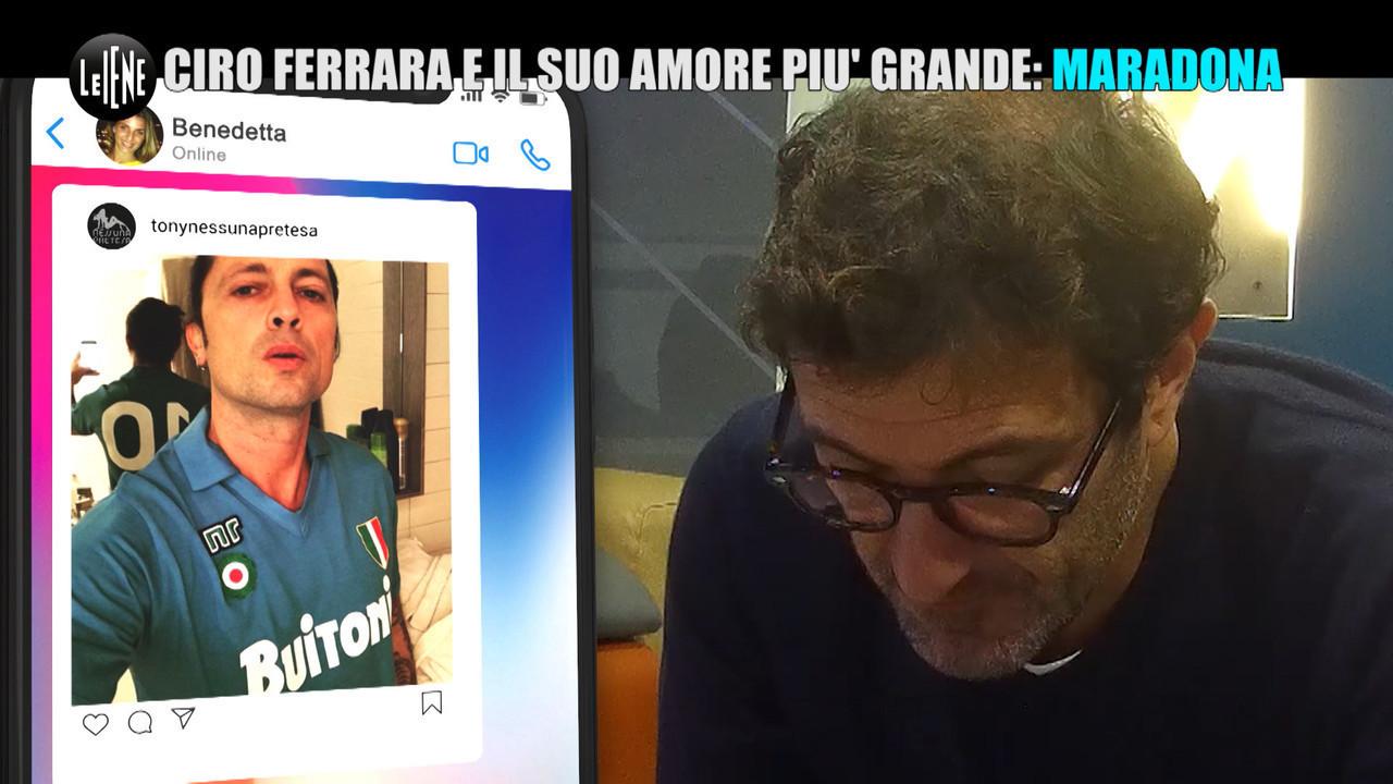 DE DEVITIIS: Ciro Ferrara e la maglietta di Maradona: lo scherzo de Le Iene