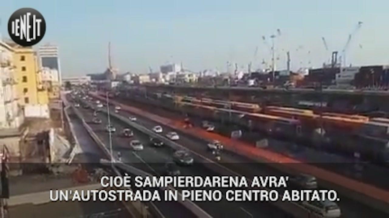 genova ponte morandi crollo sampierdarena traffico inquinamento lungomare canepa proteste