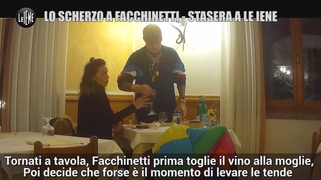 facchinetti scherzo iene laura cremaschi video virale bicchiere rissa moglie