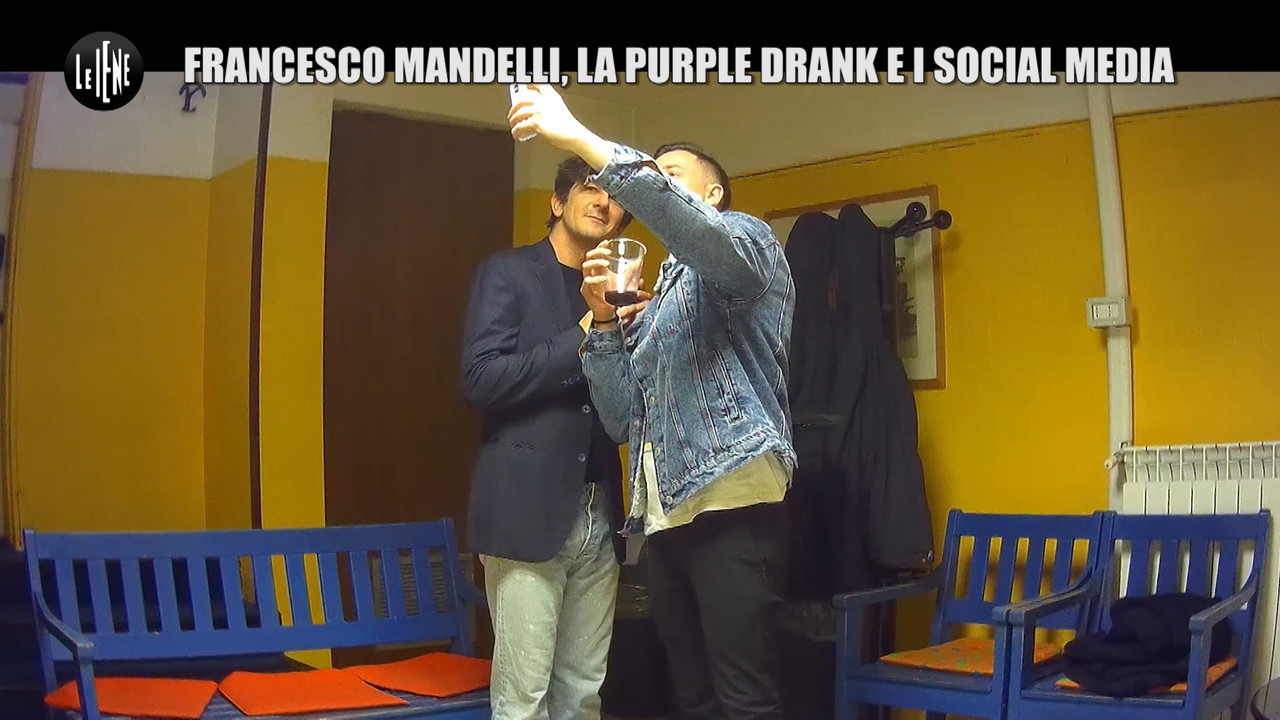 Francesco mandelli purple drank scherzo shade droga
