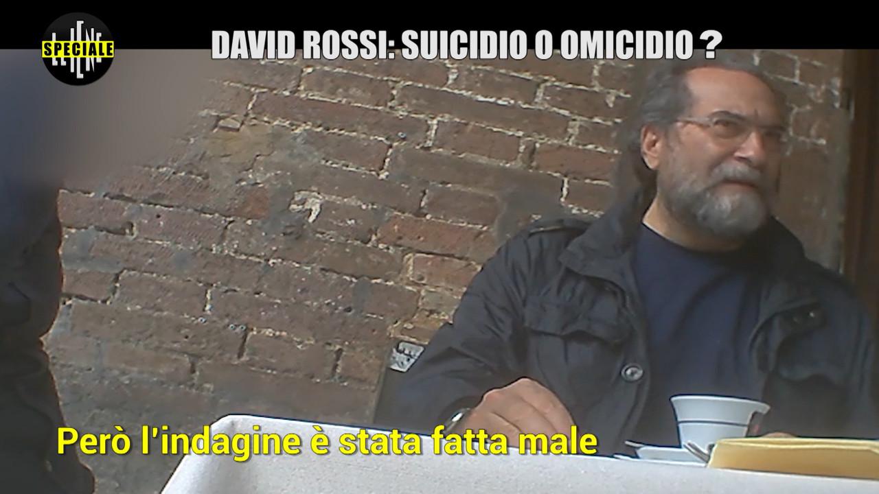 David Rossi Mps suicidio omicidio speciale Iene
