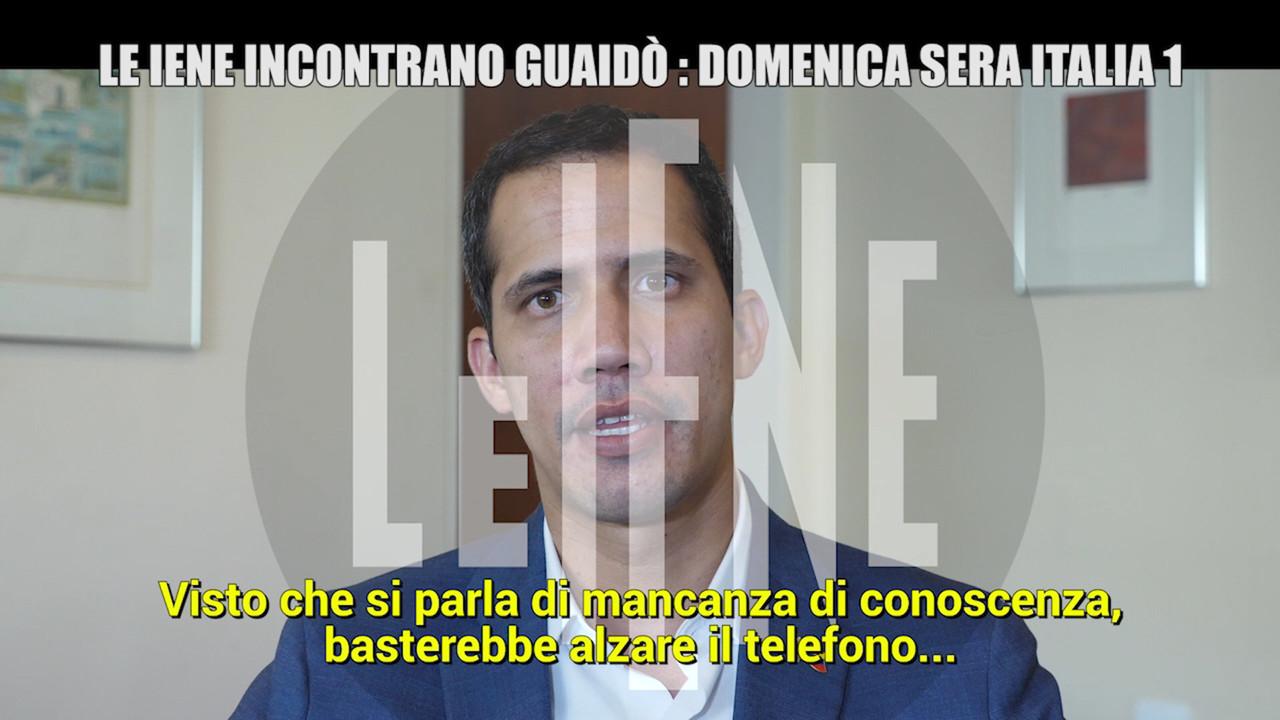 "Venezuela, intervista esclusiva de Le Iene al presidente Guaidó: ""M5S? Non sanno cosa succede qui"""