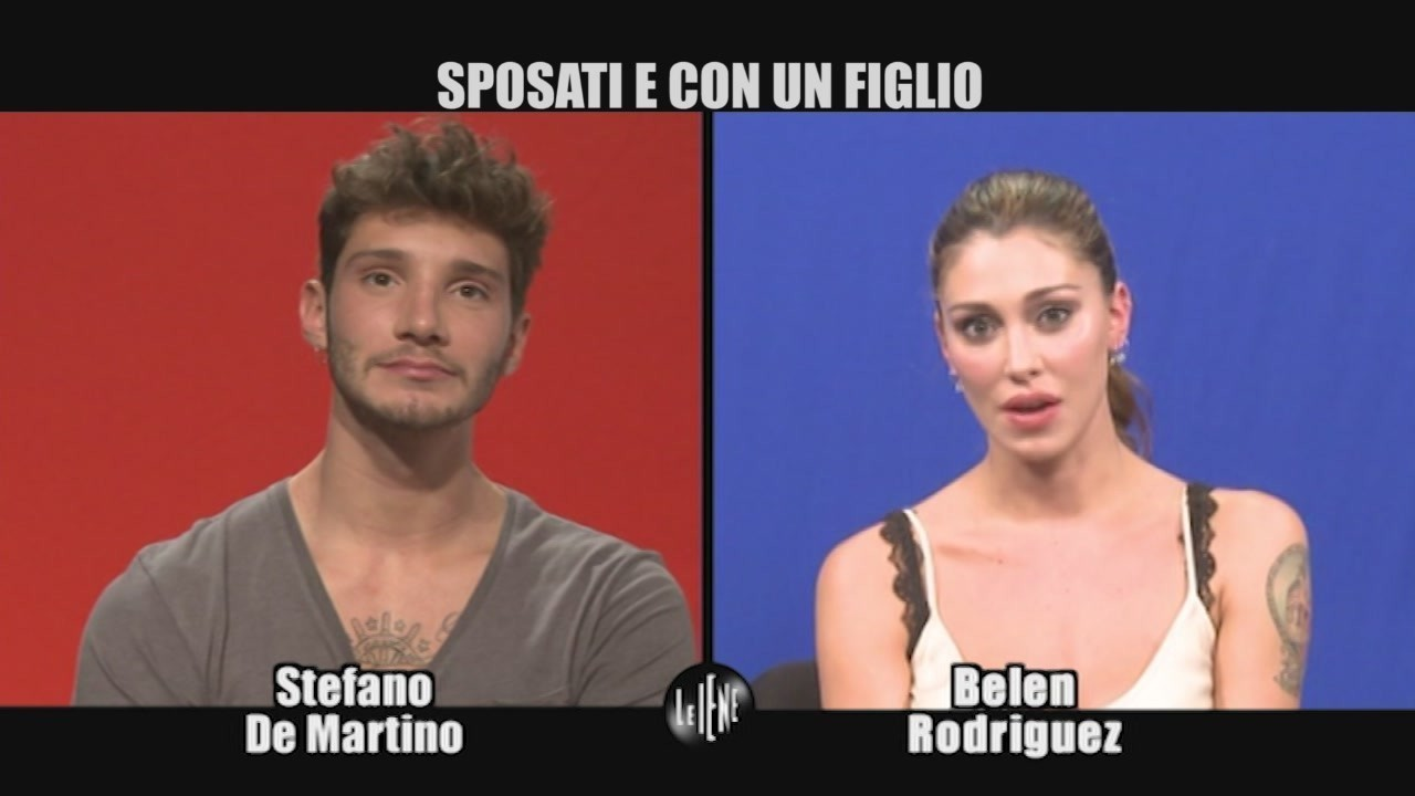 intervista doppia Belen stefano De Martino figlio