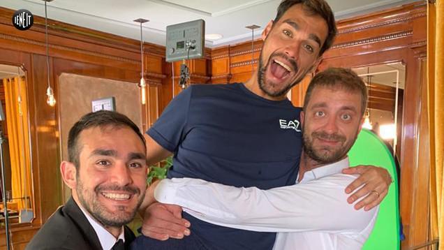 Fabio Fognini dopo il record di tennis a Montecarlo rimane in mutande con Le Iene