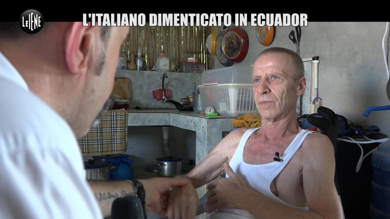ecuador malato enrico italiano soldi baraccopoli ambasciatore