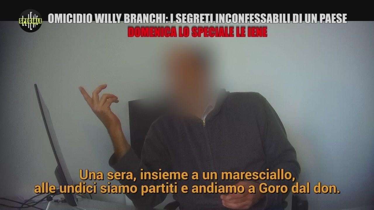 Willy Branchi omicidio indagati festini gay assassino testimone speciale Iene video