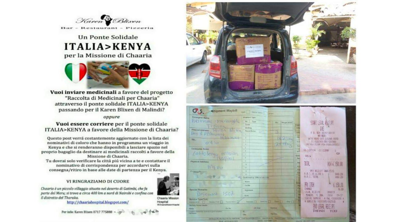 Il Karen Blixen e i pacchi per Africa Milele