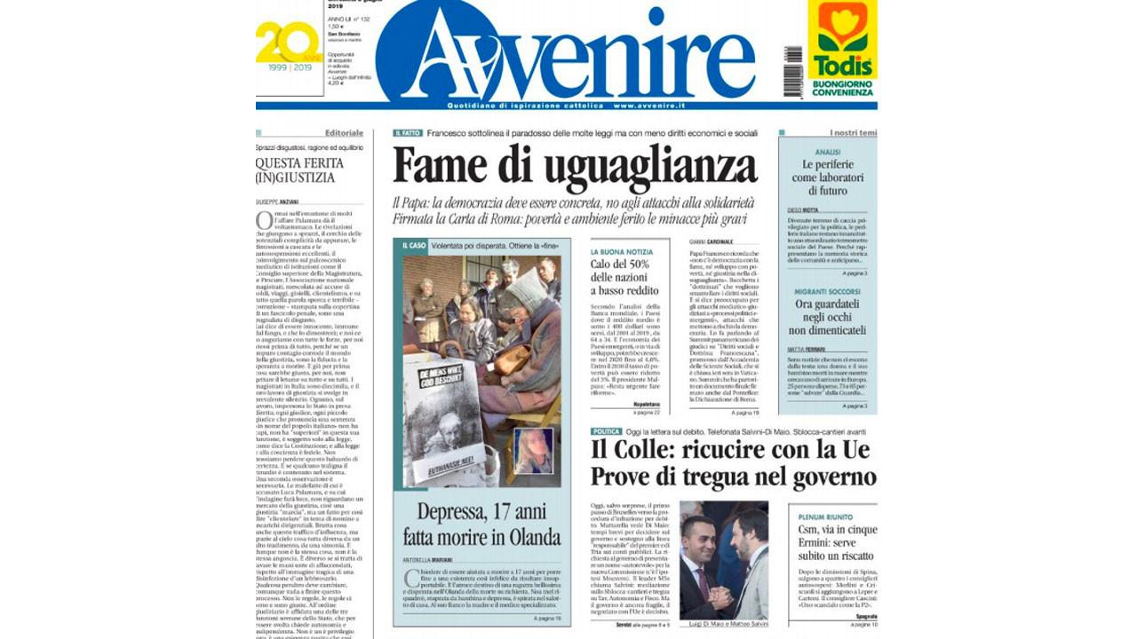 Le prime pagine dei quotidiani italiani su Noa Pothoven