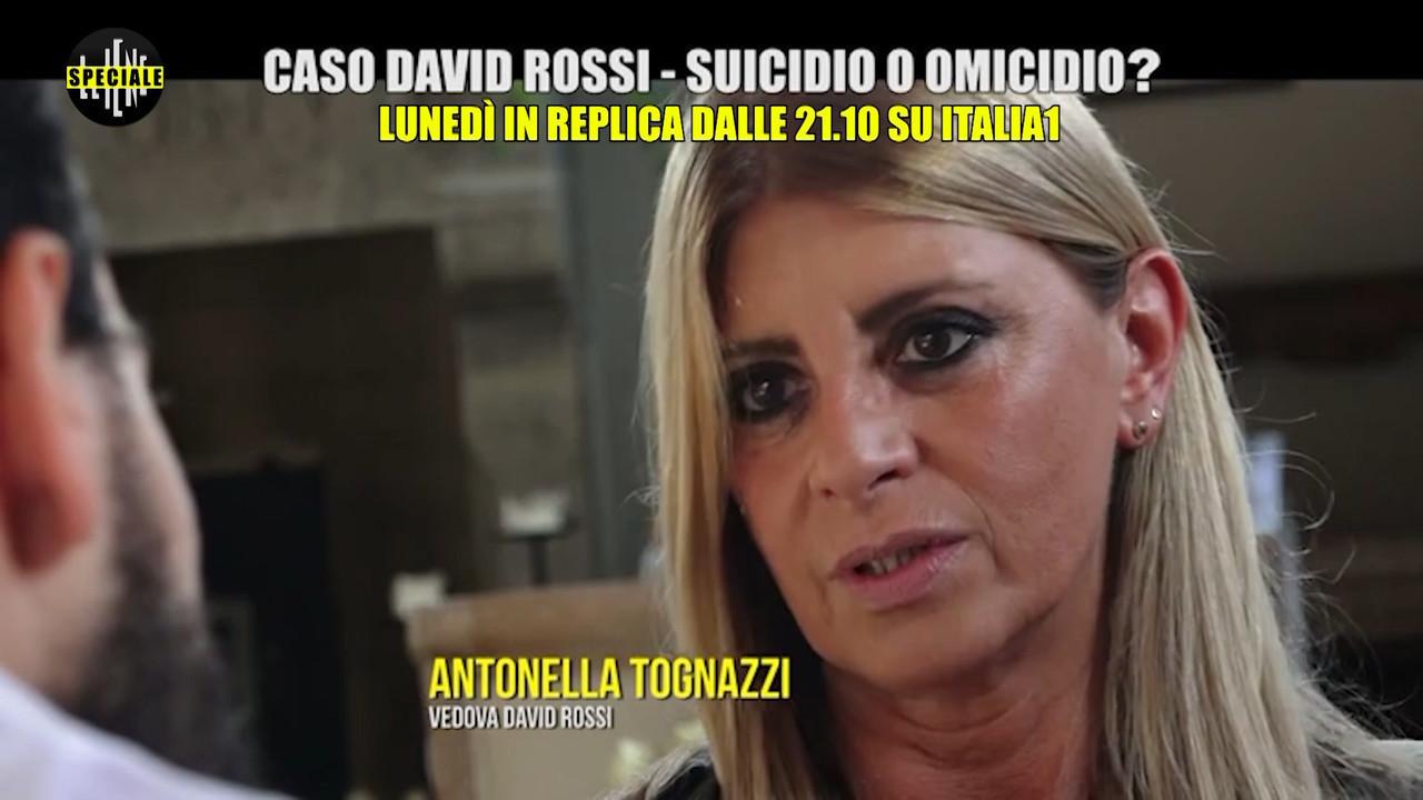 David Rossi suicidio omicidio speciale iene moglie
