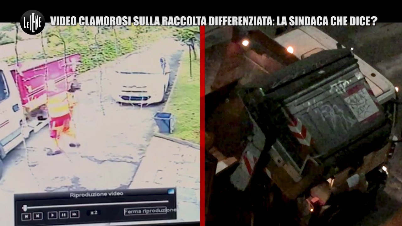 raccolta differenziata roma caos video