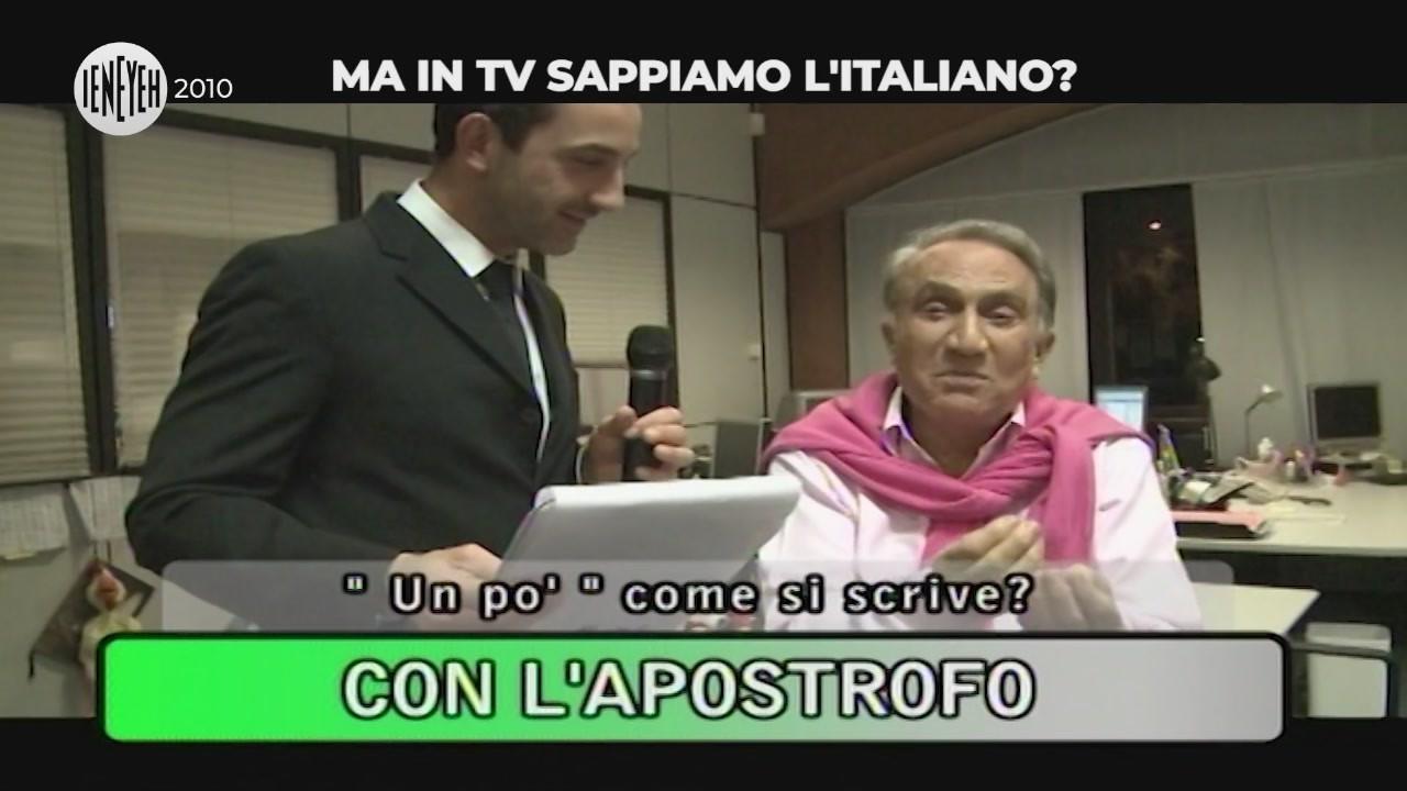 personaggi televisivi grammatica italiana