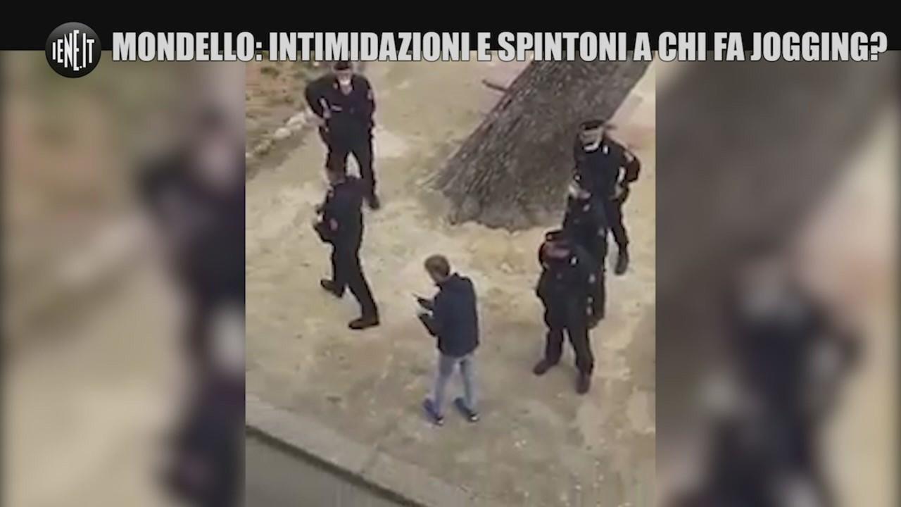 Coronavirus, jogging Mondello spintoni polizia