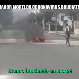 Ecuador bruciati strada i morti coronavirus