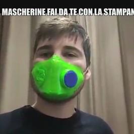 coronavirus mascherine stampante 3d