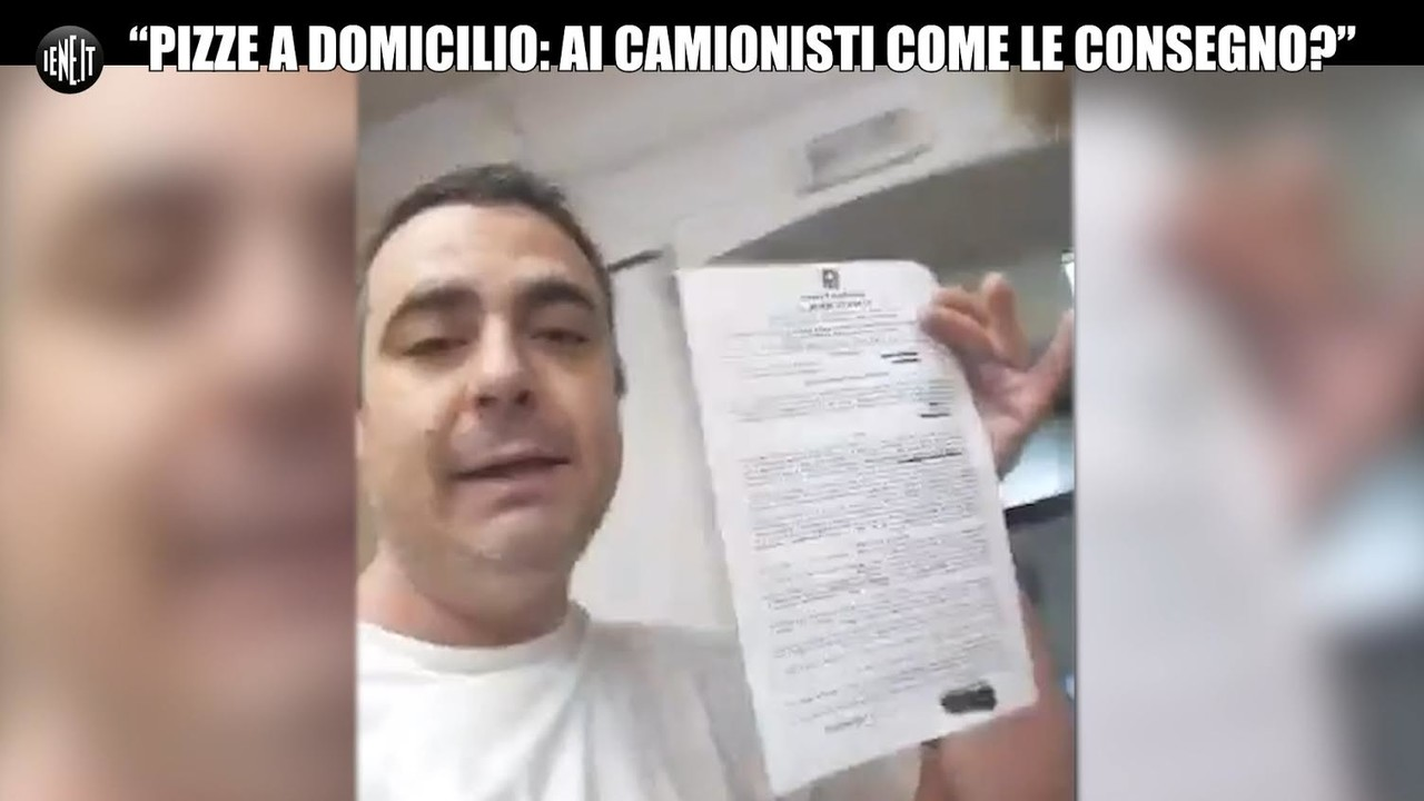 "Coronavirus, pizze solo a domicilio: ""Multato: come consegno ai camionisti?"" 