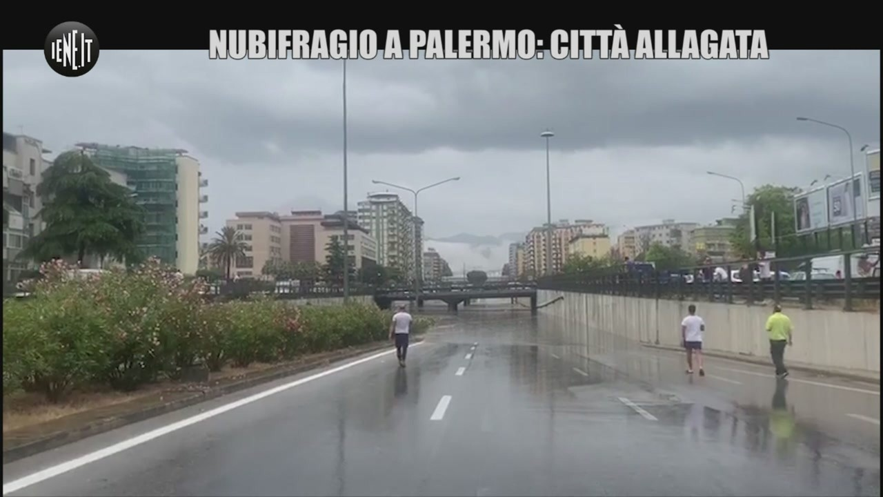 Palermo allagata acqua ponte