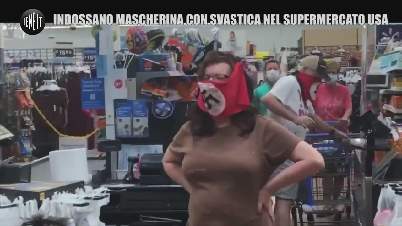 mascherina svastica supermercato usa