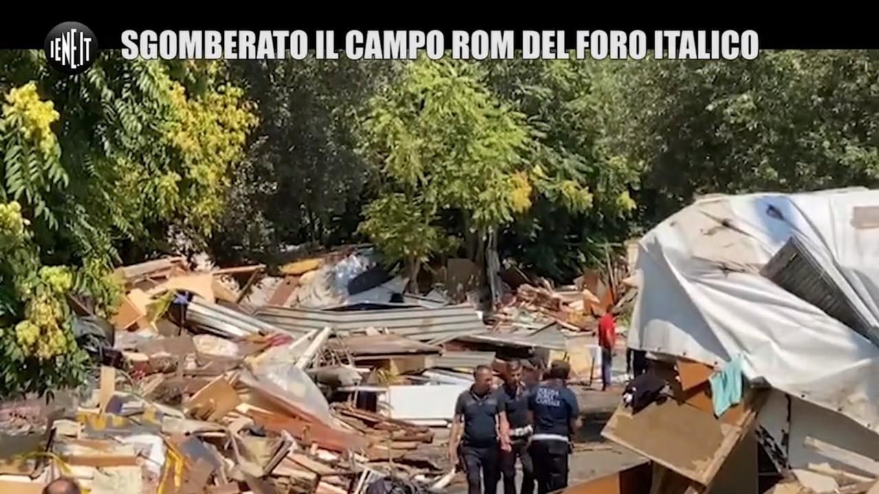 sgomberato campo rom Foro Italico