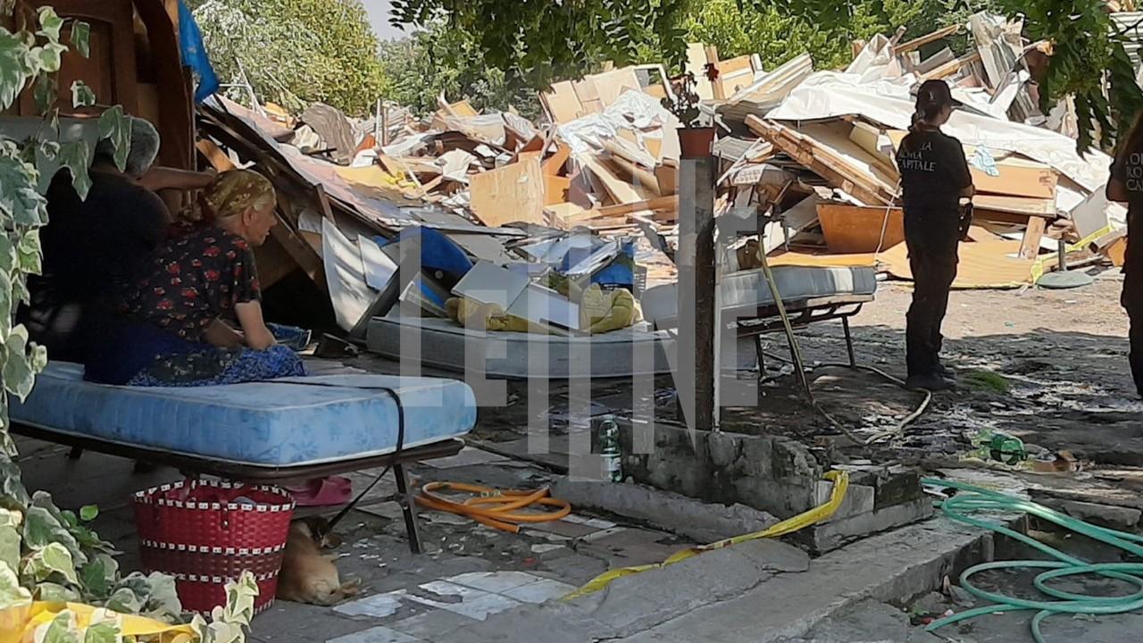 Sgombero campo rom nel centro di Roma: le foto